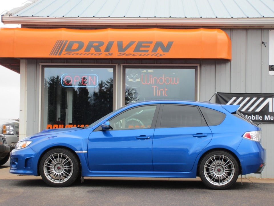 Subaru window tint install completes this wrx for Subaru motors finance address