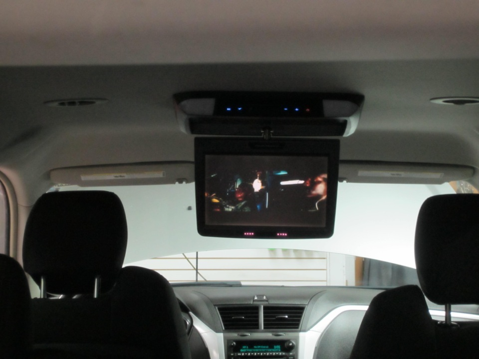 Chevy Traverse Overhead Dvd System Installed Seamlessly