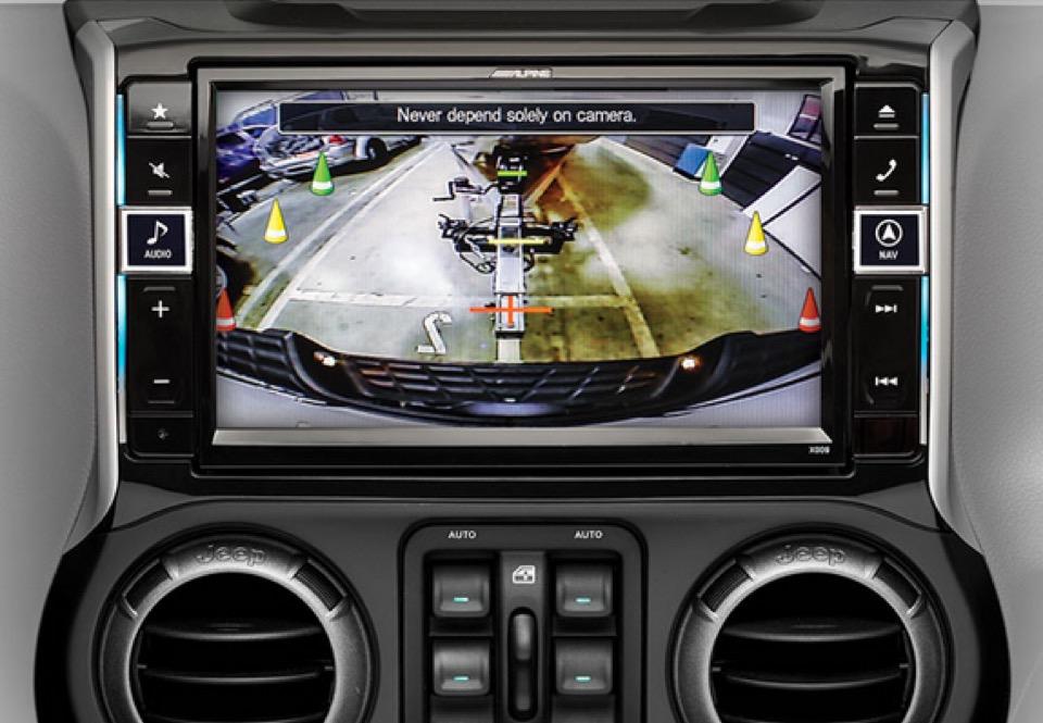 alpine jeep navigation system completes your wrangler. Black Bedroom Furniture Sets. Home Design Ideas