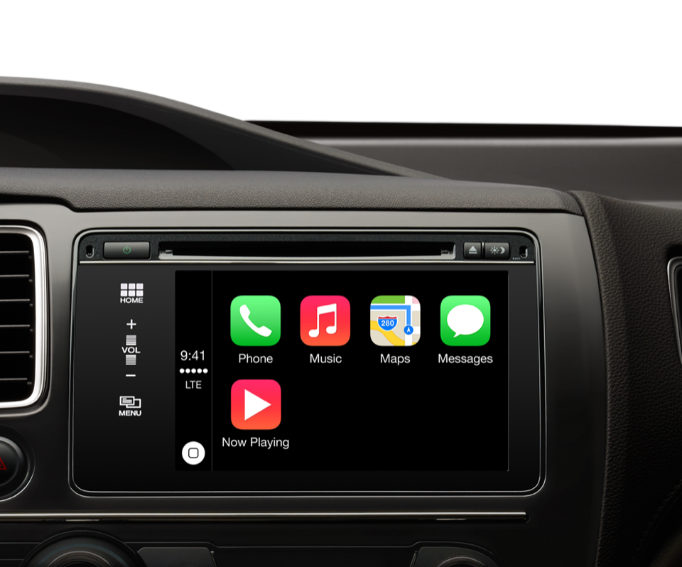 apple carplay handsfree access to iphone features. Black Bedroom Furniture Sets. Home Design Ideas
